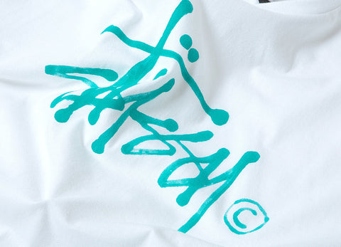 Stussy Water Stock T Shirt - White