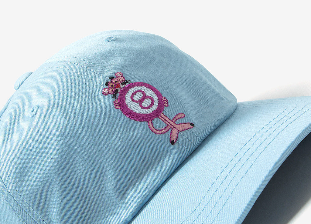 a2411e5c1beb5 HUF x Pink Panther 8 Ball Dad Cap - Light Blue