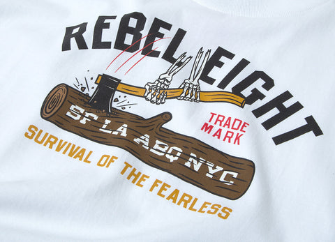 Rebel8 Survival Of The Fearless T-Shirt - White