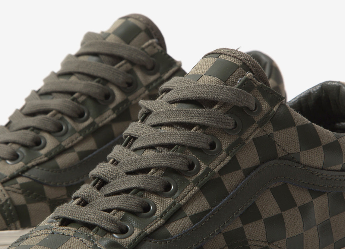 Vans Old Skool 'High Density Checkerboard' Shoes OliveCheck