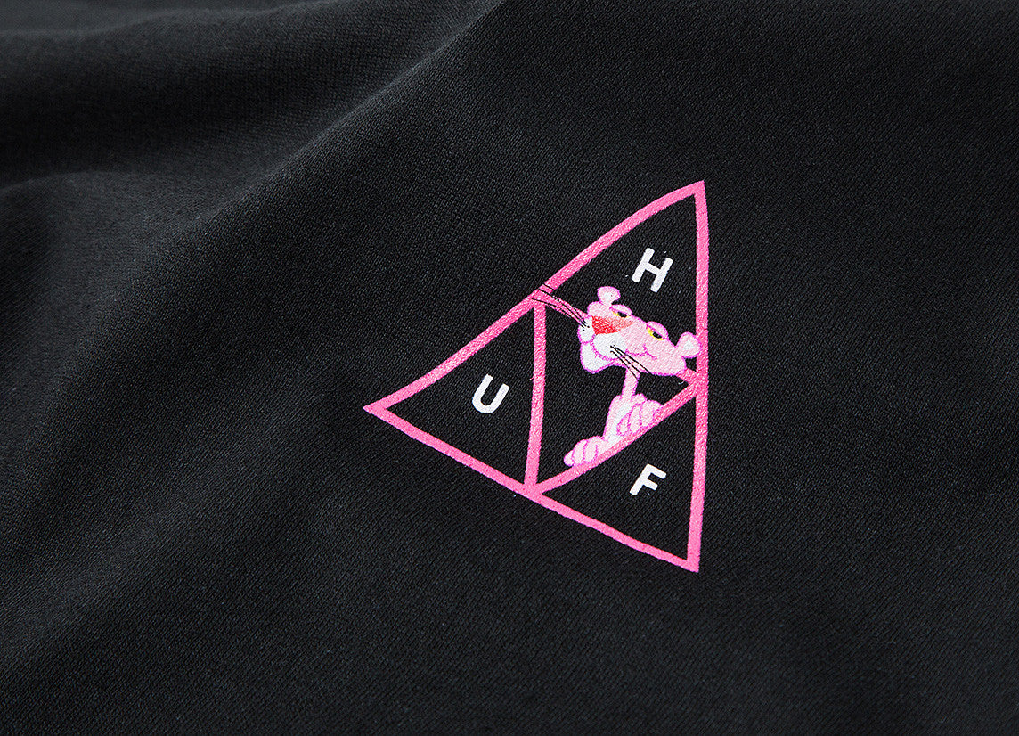 HUF x Pink Panther Triple Triangle T Shirt - Black