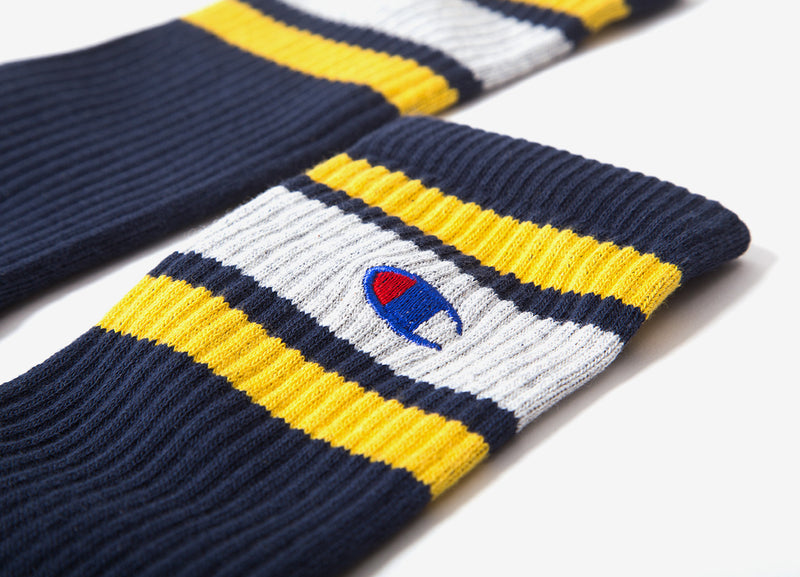 Champion Colour Block Crew Socks - Navy
