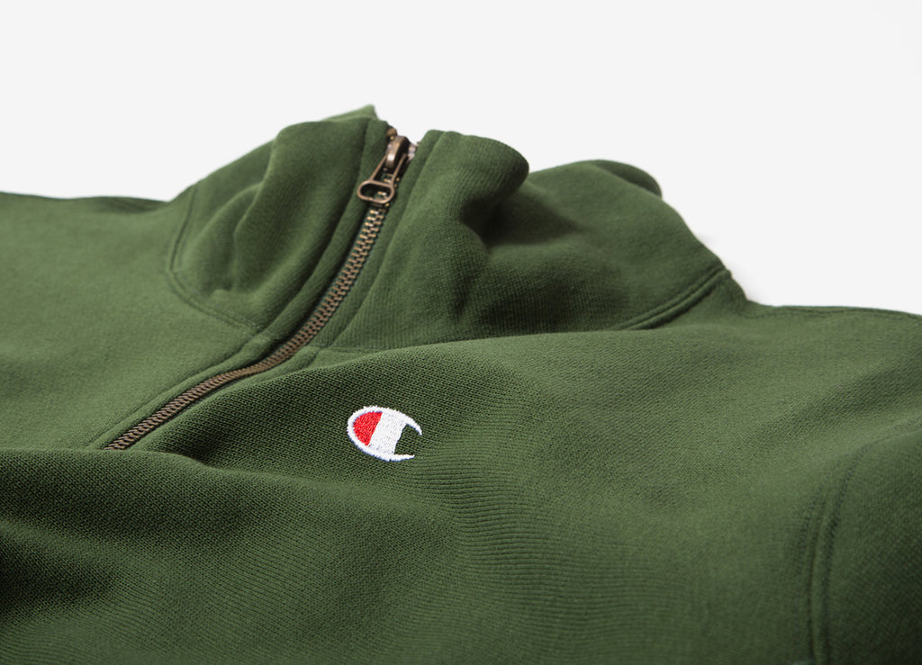 Champion Reverse Weave 1/2 Zip Sweatshirt - Green