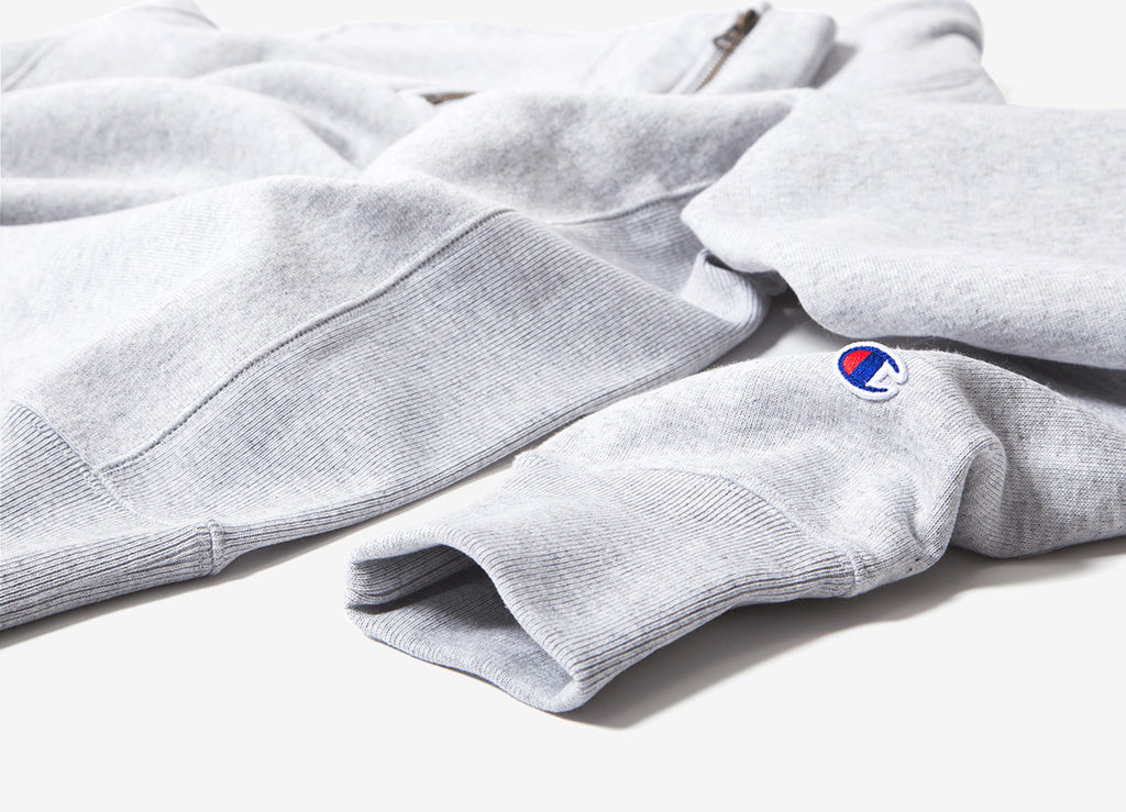 Champion Reverse Weave 1/2 Zip Sweatshirt - Grey