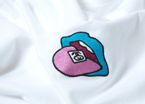 Stussy Satisfaction Embroidered T Shirt - White