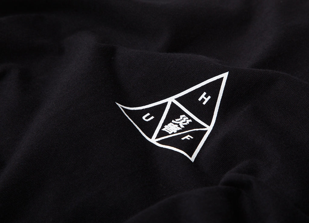 HUF Memorial Triple Triangle T Shirt - Black