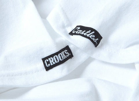 Crooks & Castles Mini Box Logo T Shirt - White