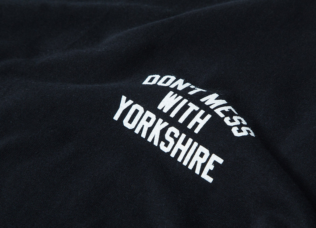 Don't Mess With Yorkshire  Rose L/S T Shirt - Black