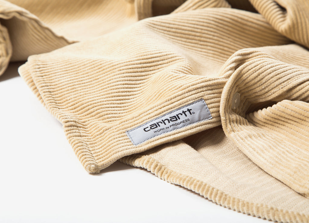 Carhartt Madison Cord Shirt  - Ceramics/Black
