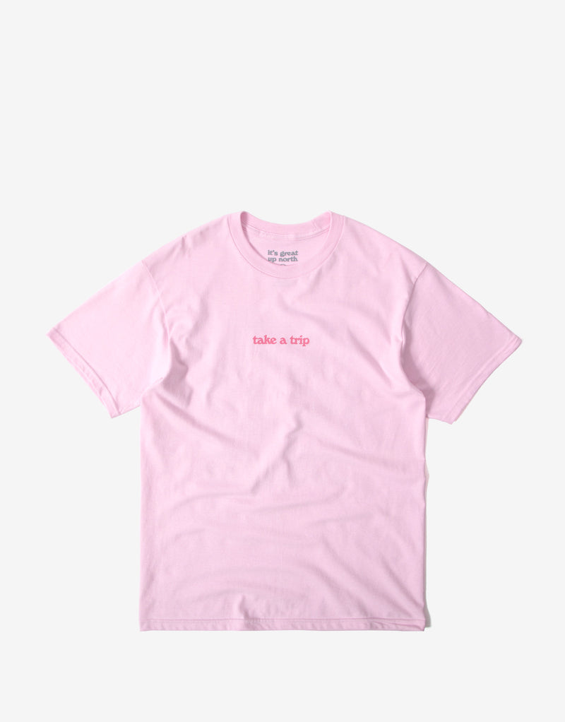 It's Great Up North Take A Trip T Shirt - Pink