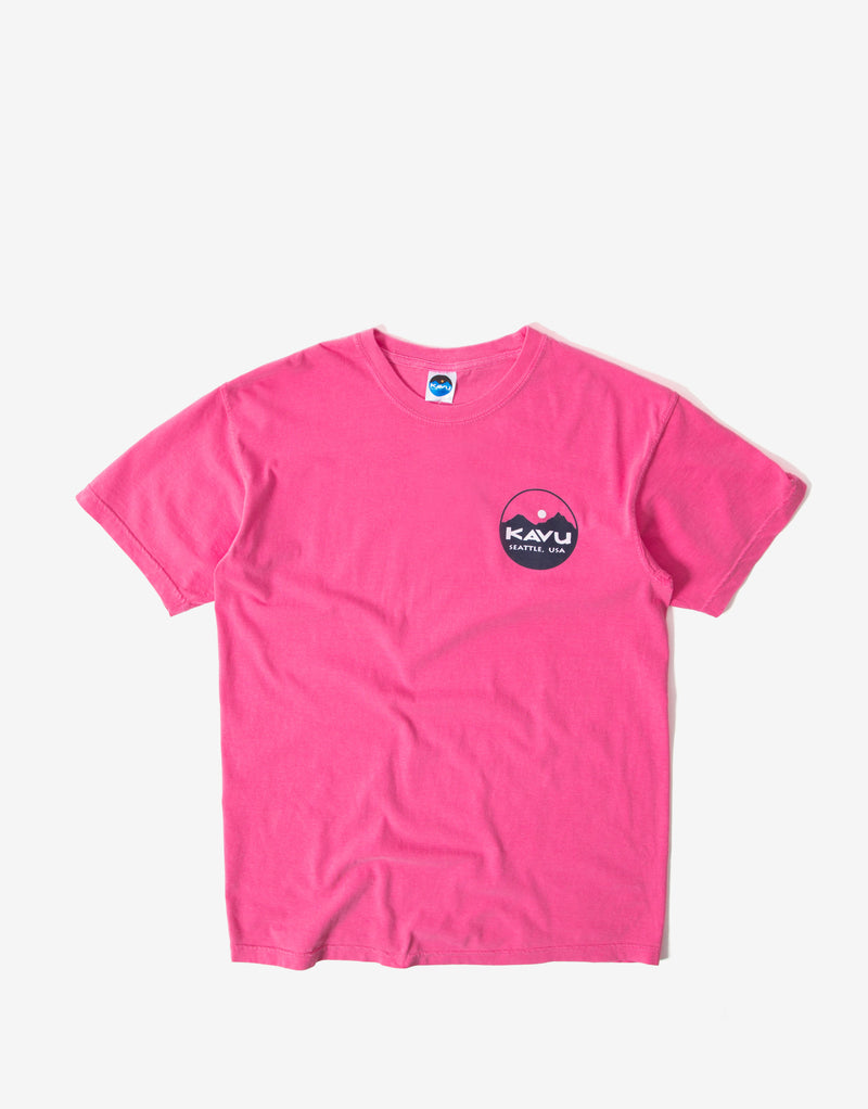 KAVU Buzznard T Shirt - Faded Fuchsia