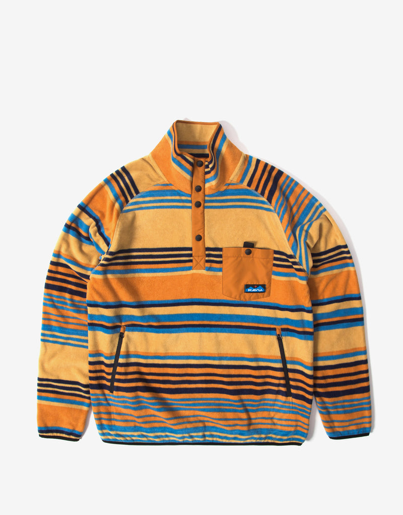 KAVU Teannaway Pullover Fleece - Teakwood Stripe