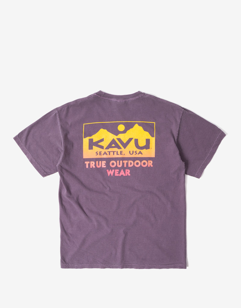 KAVU True Fade T Shirt - Wine