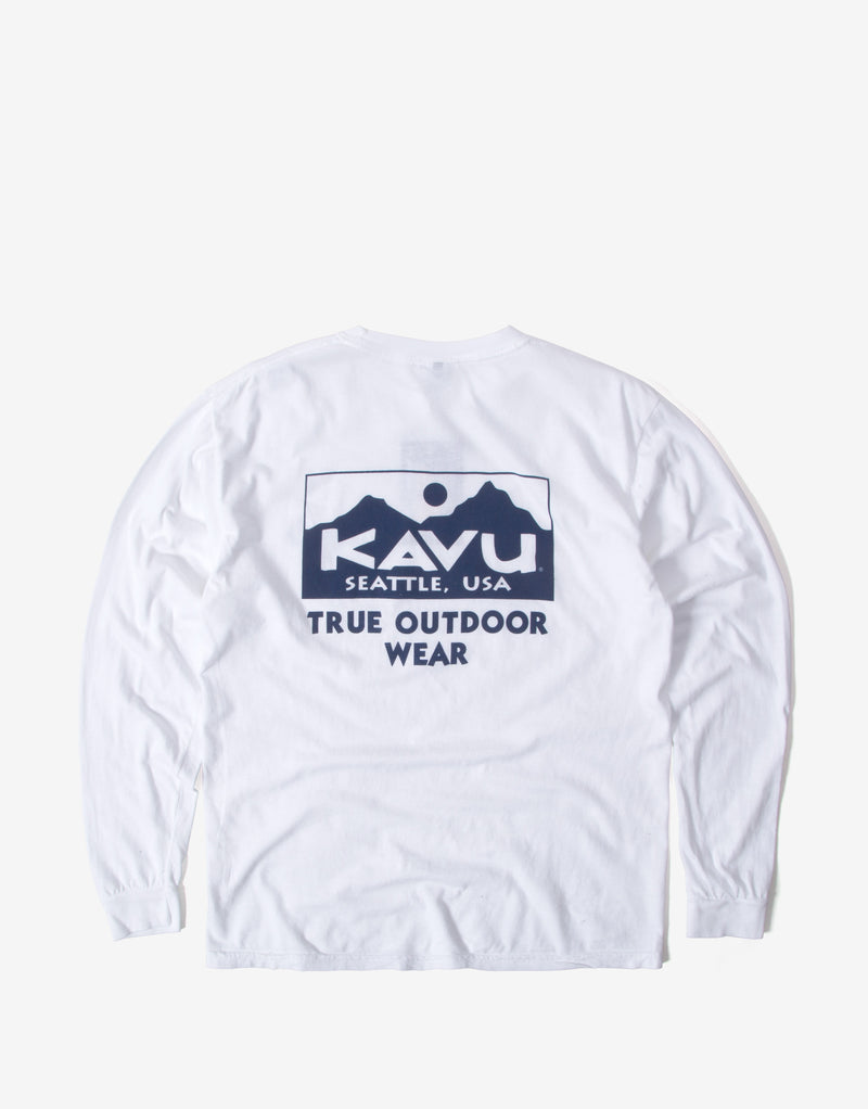 KAVU True Long Sleeve T Shirt - Winter White
