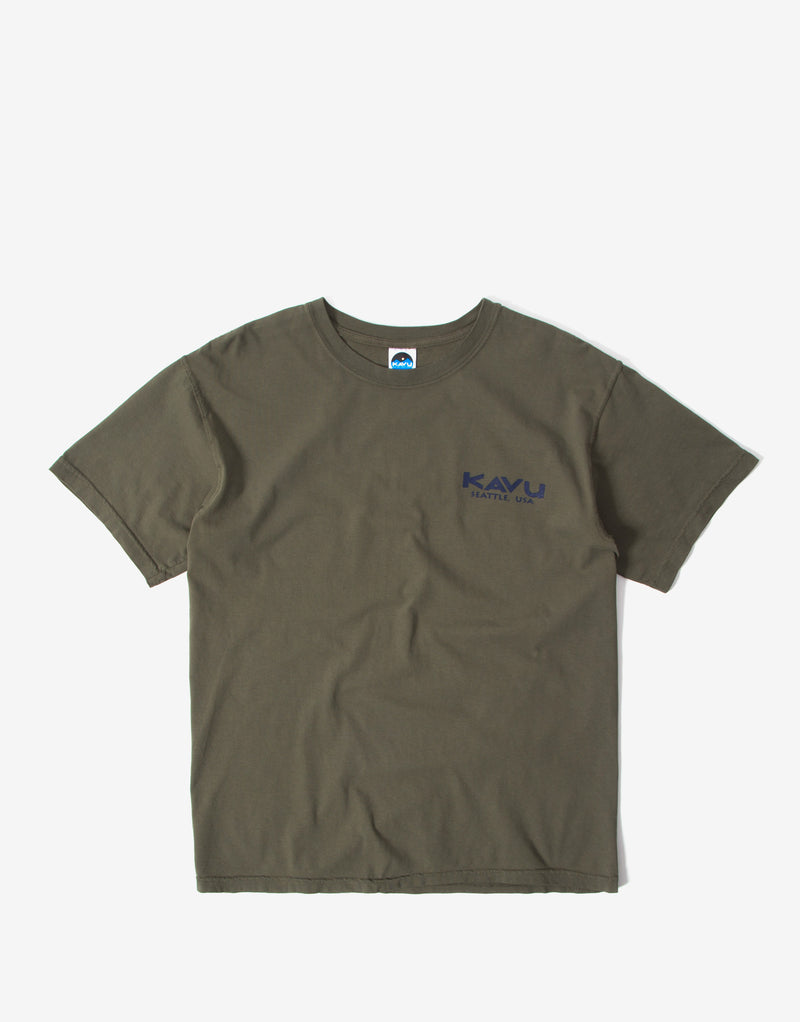 KAVU True T Shirt - Faded Green