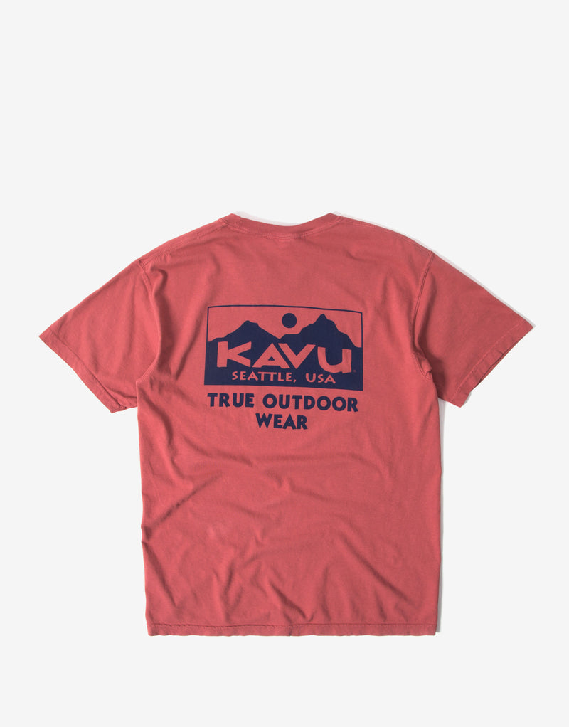 KAVU True T Shirt - Faded Red