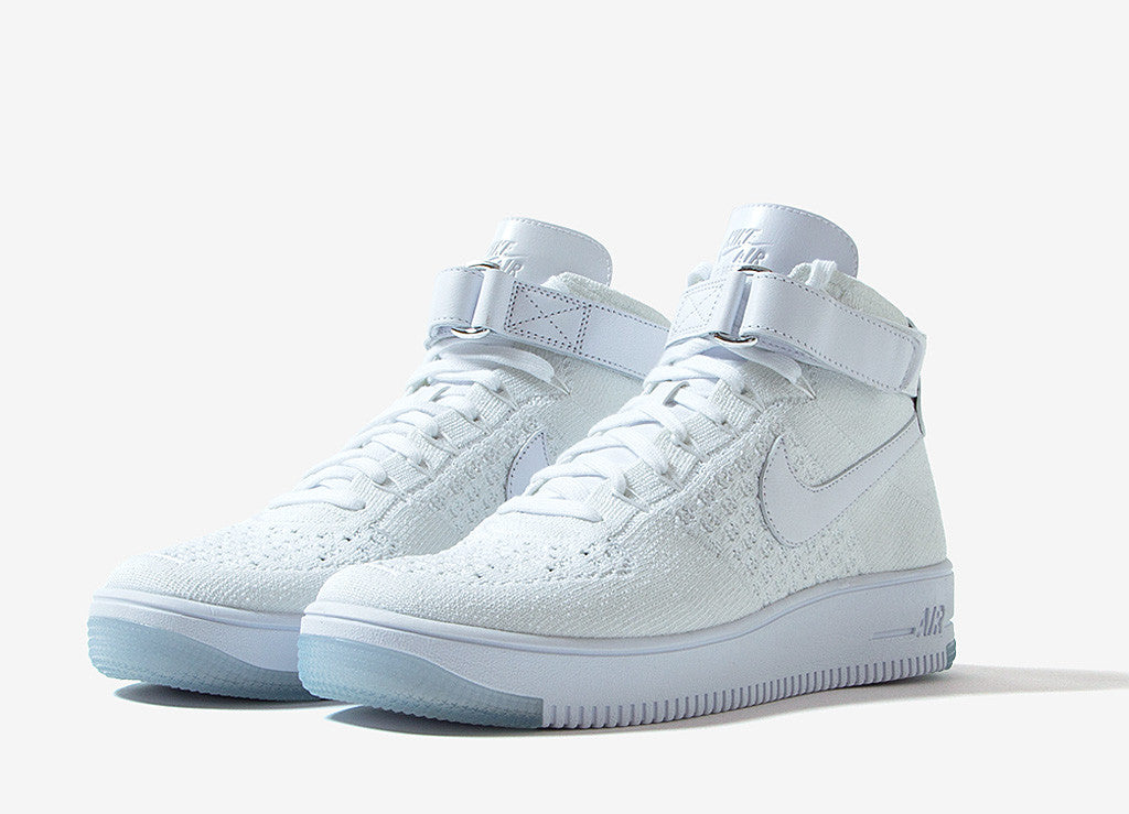 Nike Air Force 1 Ultra Flyknit Mid Shoes - White/White