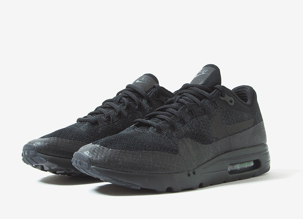 Nike Air Max 1 Ultra Flyknit Shoes - Black/Black-Anthracite