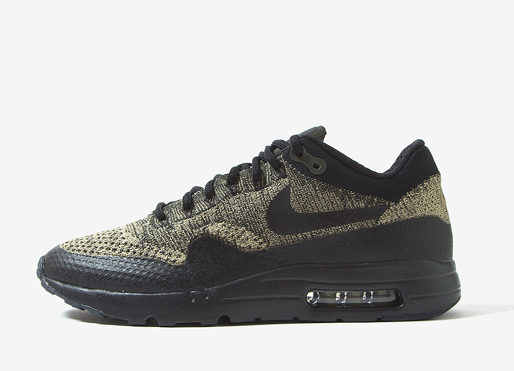 Nike Air Max 1 Ultra Flyknit Shoes - Neutral Olive/Black-Sequoia