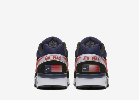 Nike Air Max BW Olympic Pack Shoes -Black/Crimson-Midnight