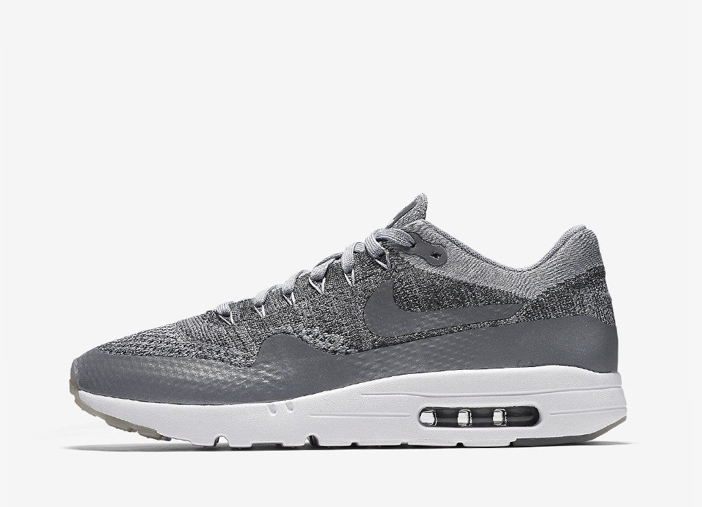 Nike Air Max 1 Ultra Flyknit Shoes - Wolf Grey/Wolf Grey