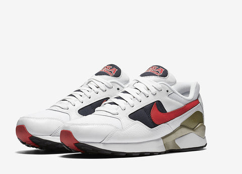Nike Air Pegasus 92 Olympic Pack Shoes - White/University Red