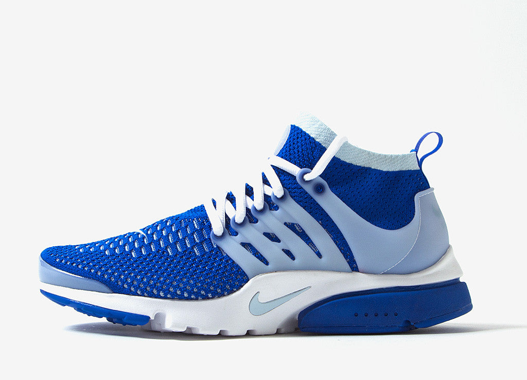 Nike Air Presto Ultra Flyknit Shoes - Racer Blue/Blue Tint Grey-White