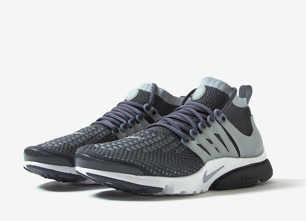Nike Air Presto Ultra Flyknit Shoes - Dark Grey/Wolf Grey-White