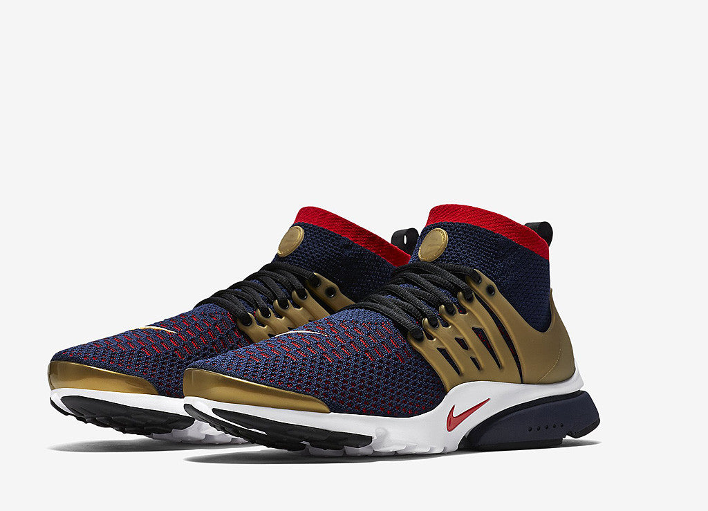 Nike Air Presto Ultra Flyknit Olympic Pack Shoes - College Navy/Comet Red