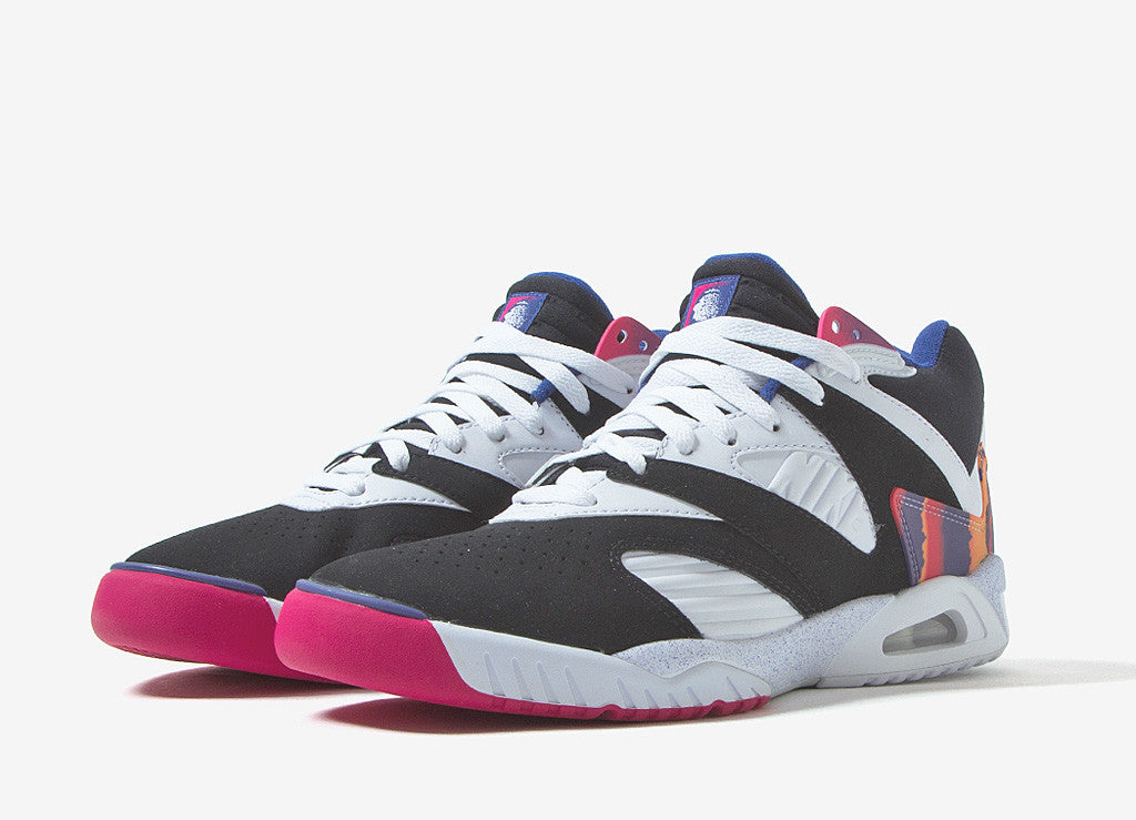 Nike Air Tech Challenge IV Shoes - Black/White/Dark Grape