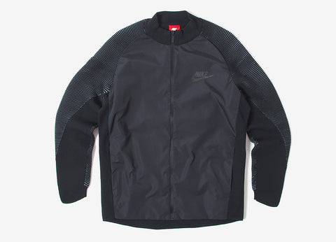 Nike Dynamic Reveal Tech Knit Varsity Jacket - Black