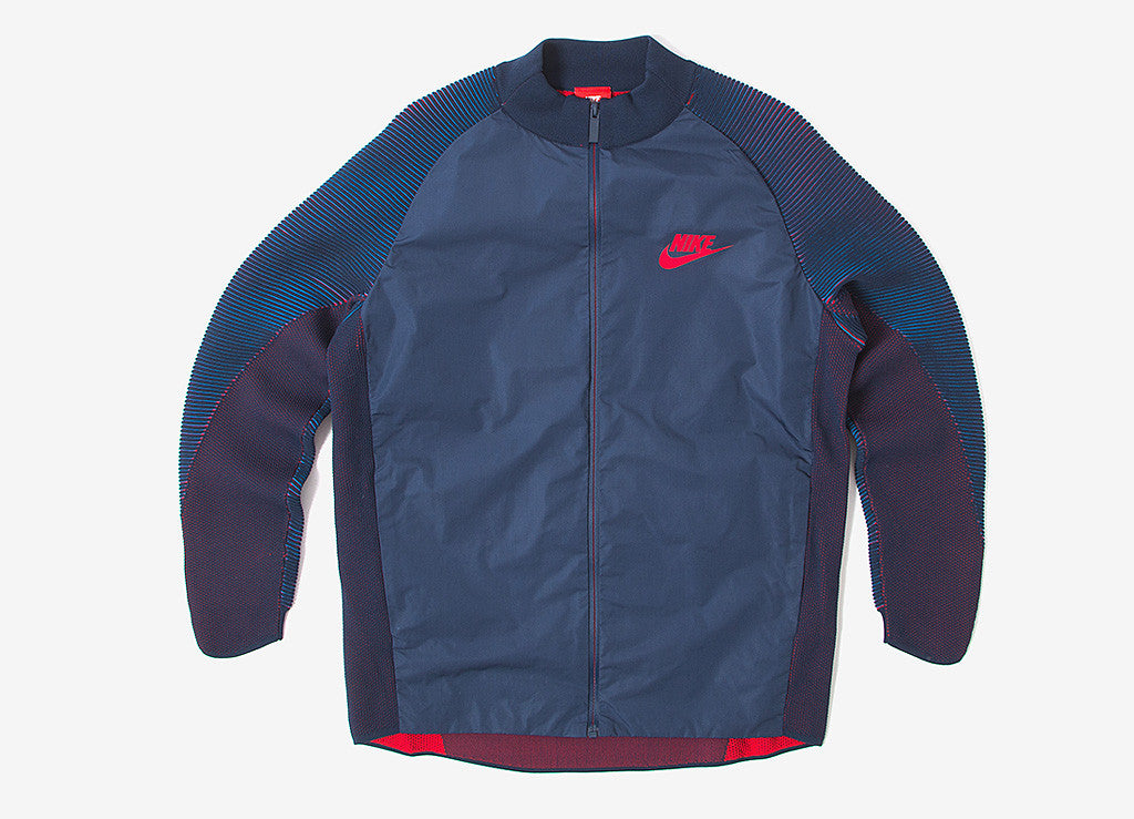 Nike Dynamic Reveal Tech Knit Varsity Jacket - Obsidian