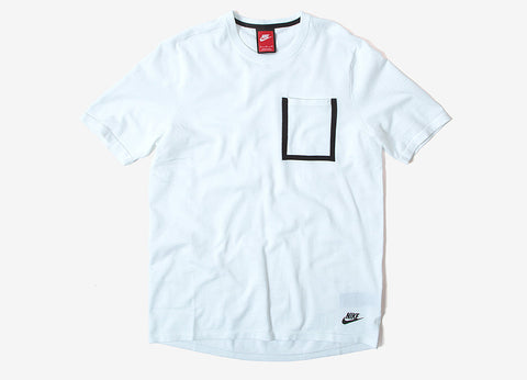 Nike Tech Knit T Shirt - White/White/Black