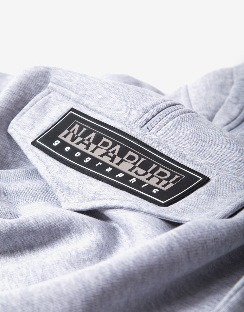 Napapijri B-Patch Half Zip - Light Grey Melange