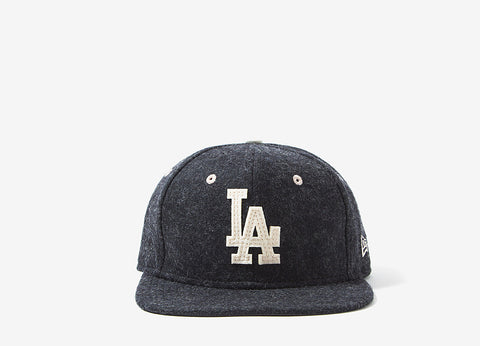 New Era LA Dodgers Felt Wool Snapback Cap - Grey