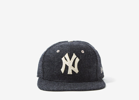 New Era New York Yankees Wool Snapback Cap - Grey