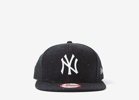 New Era New York Yankees Speckle Snapback Cap - Black