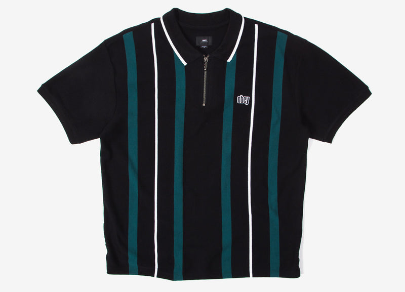 Obey Chunk Classic Polo Shirt - Black/Multi