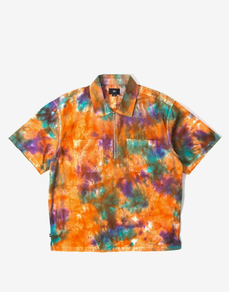 Obey Drops Woven Shirt - Orange/Multi