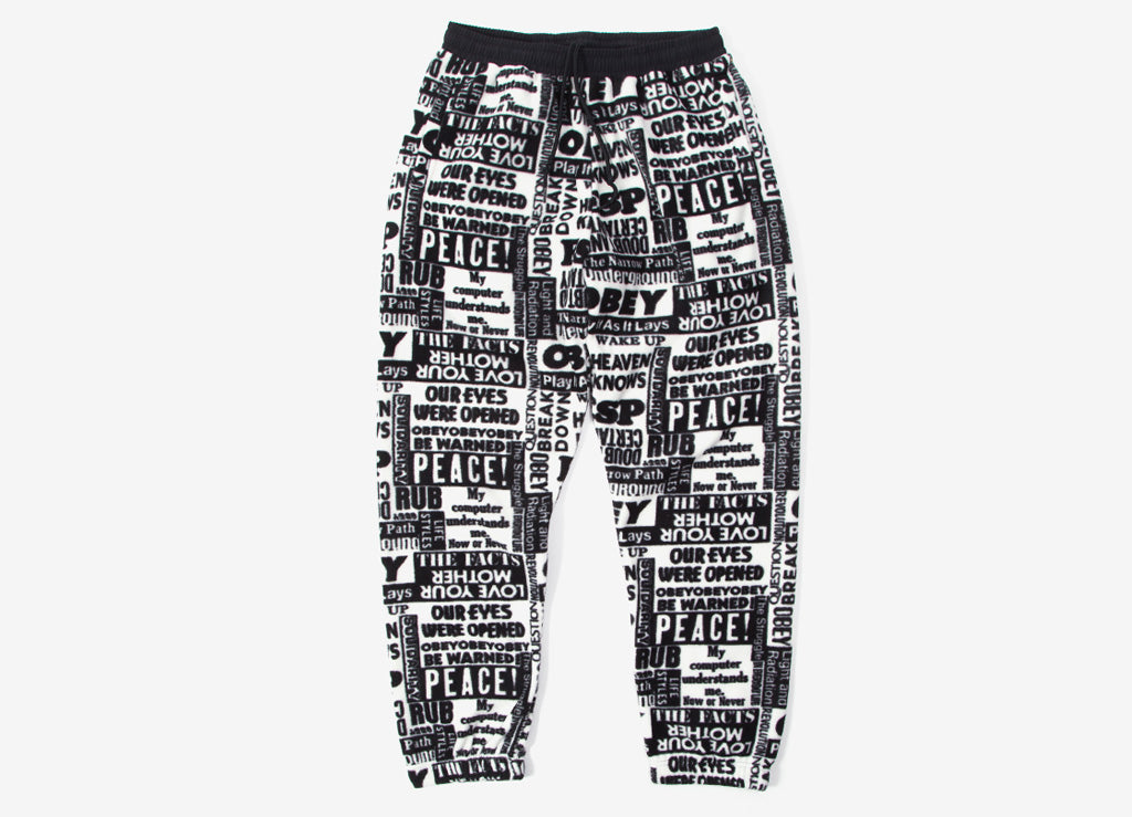 Obey Easy Post Pant - White/Multi