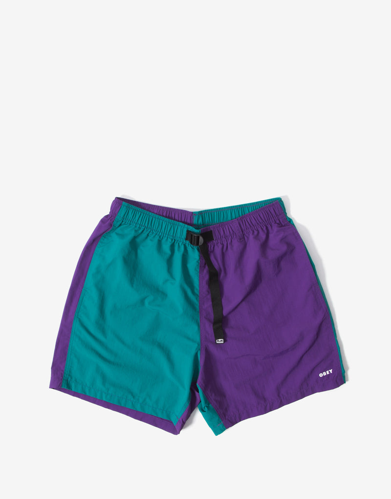 Obey Easy Relaxed Recess Short - Teal/Multi