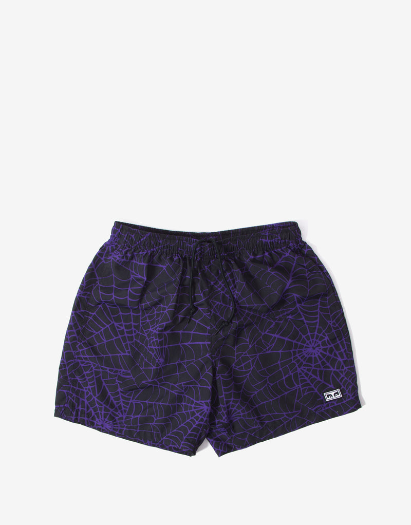 Obey Easy Relaxed Web Short - Purple/Multi