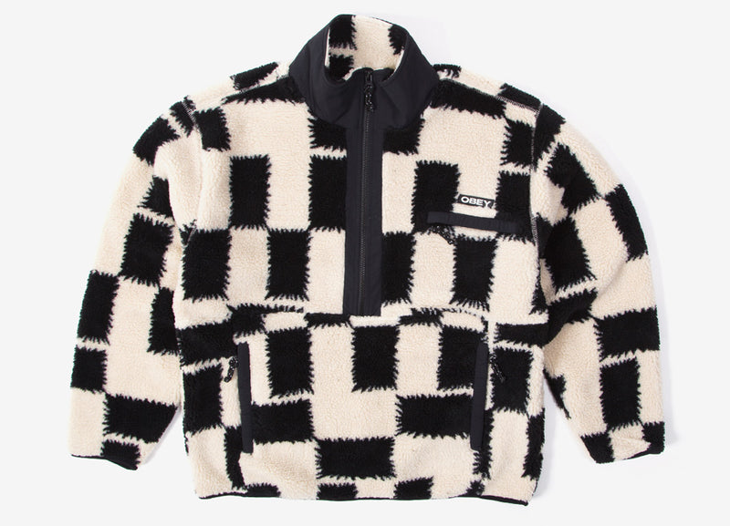 Obey Echo Pop Over Fleece - Black/Multi