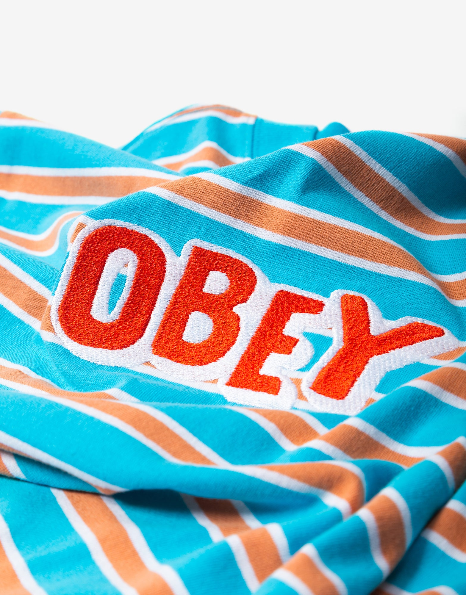 Obey Jumbled T Shirt - Aqua/Multi