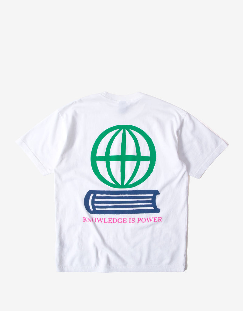 Obey Knowledge Is Power T Shirt - White