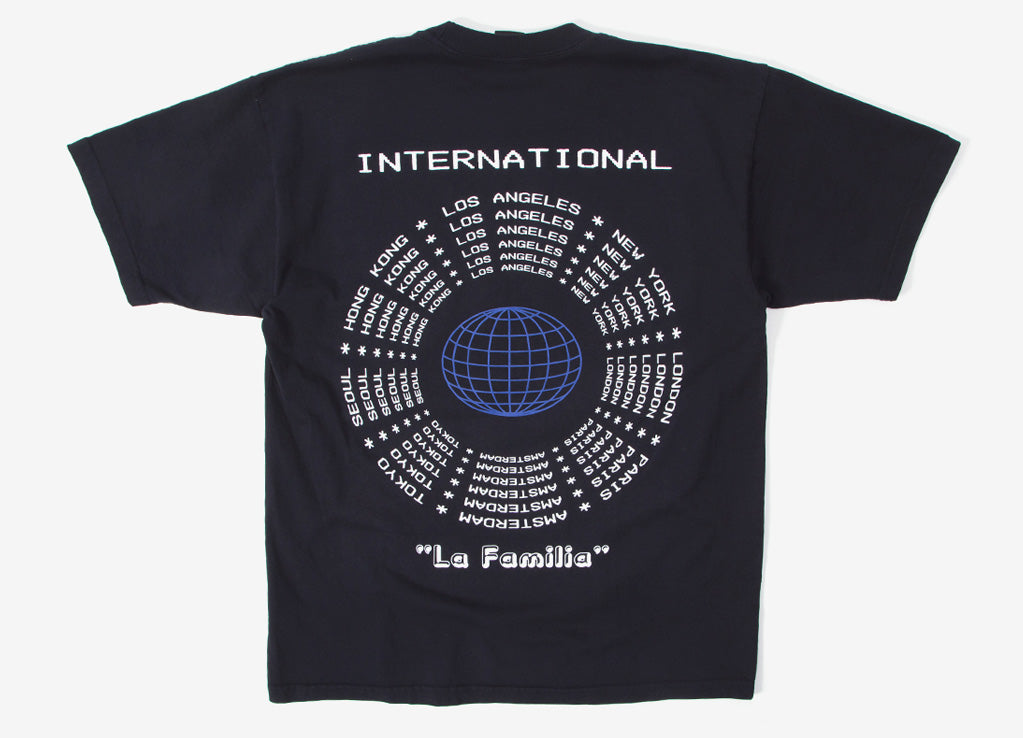 Obey La Familia T Shirt - Off Black