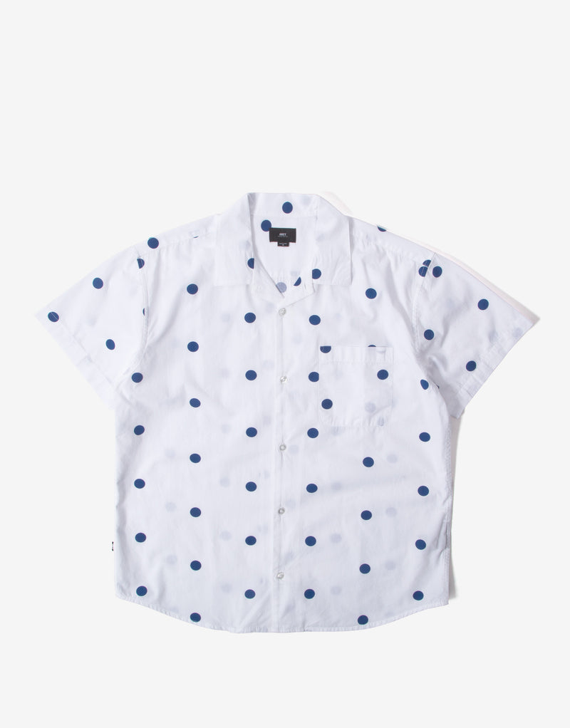 Obey Nick Woven Short Sleeve Shirt - White/Multi