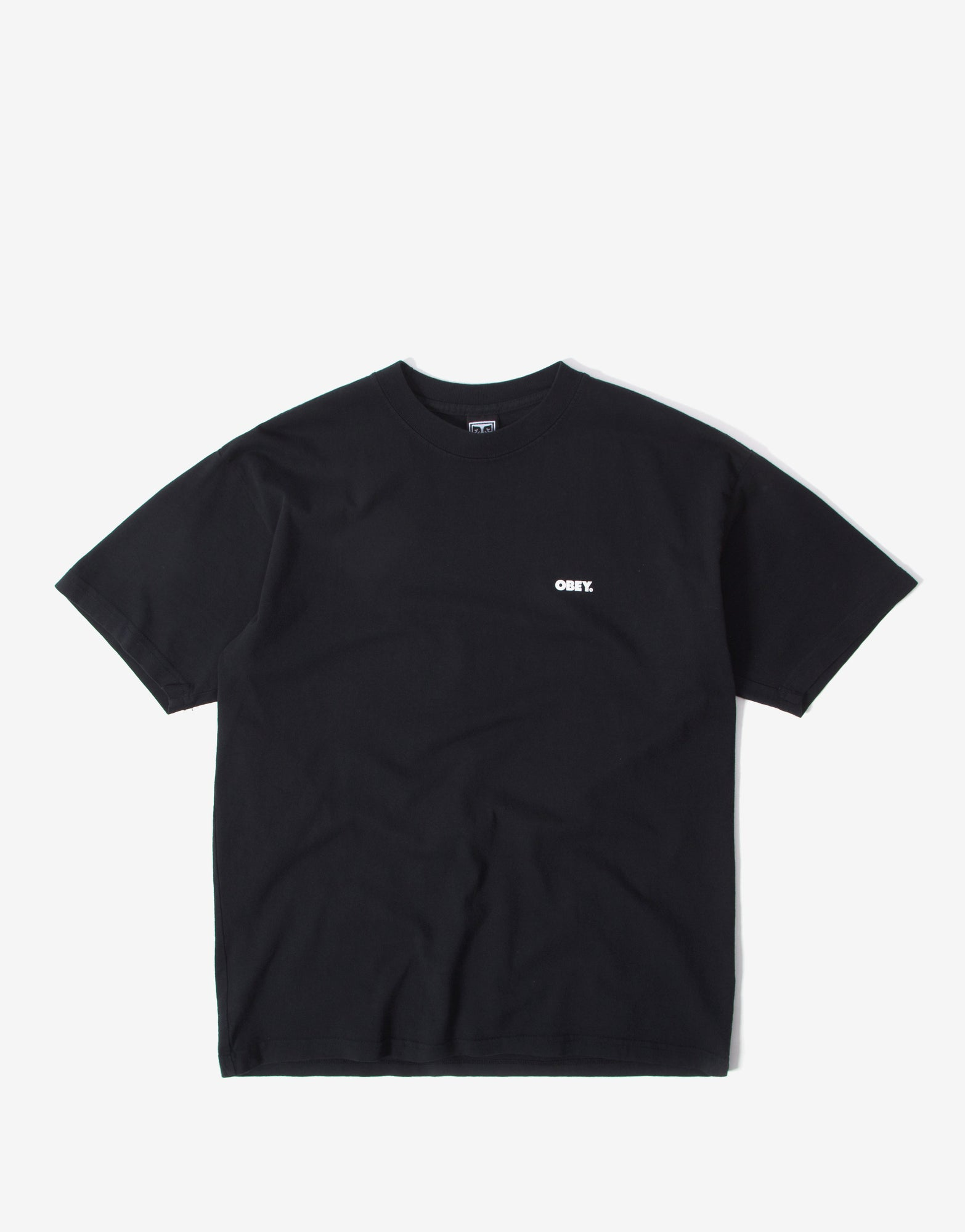 Obey No Justice, No Peace T Shirt - Off Black