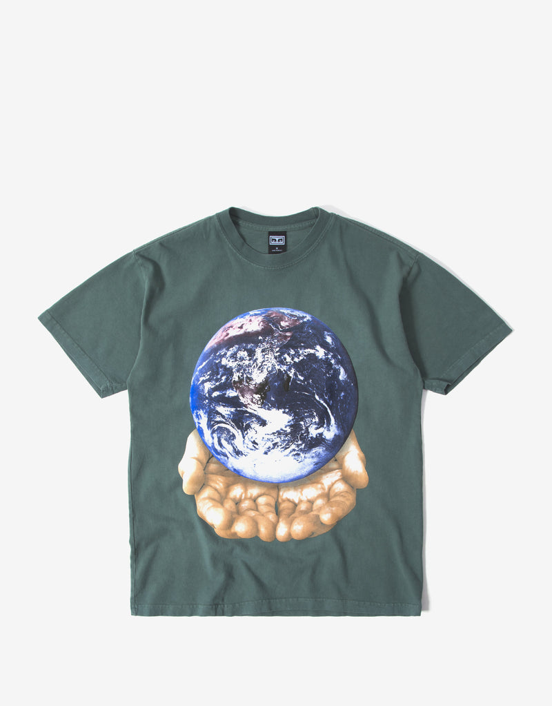 Obey Our Planet Is In Your Hands T Shirt - Velvet Pine