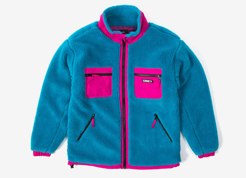 Obey Out There Sherpa Jacket - Pure Teal